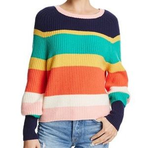 Joie Sweater Haady Striped wool- cashmere *New*